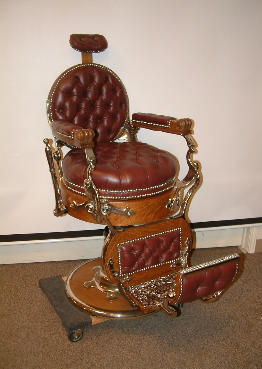 Koken Double Round Barber Chair  SOLD!
