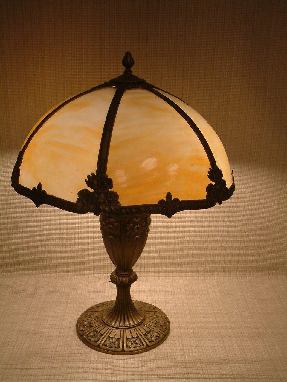 Miller Caramel Slag Glass Lamp