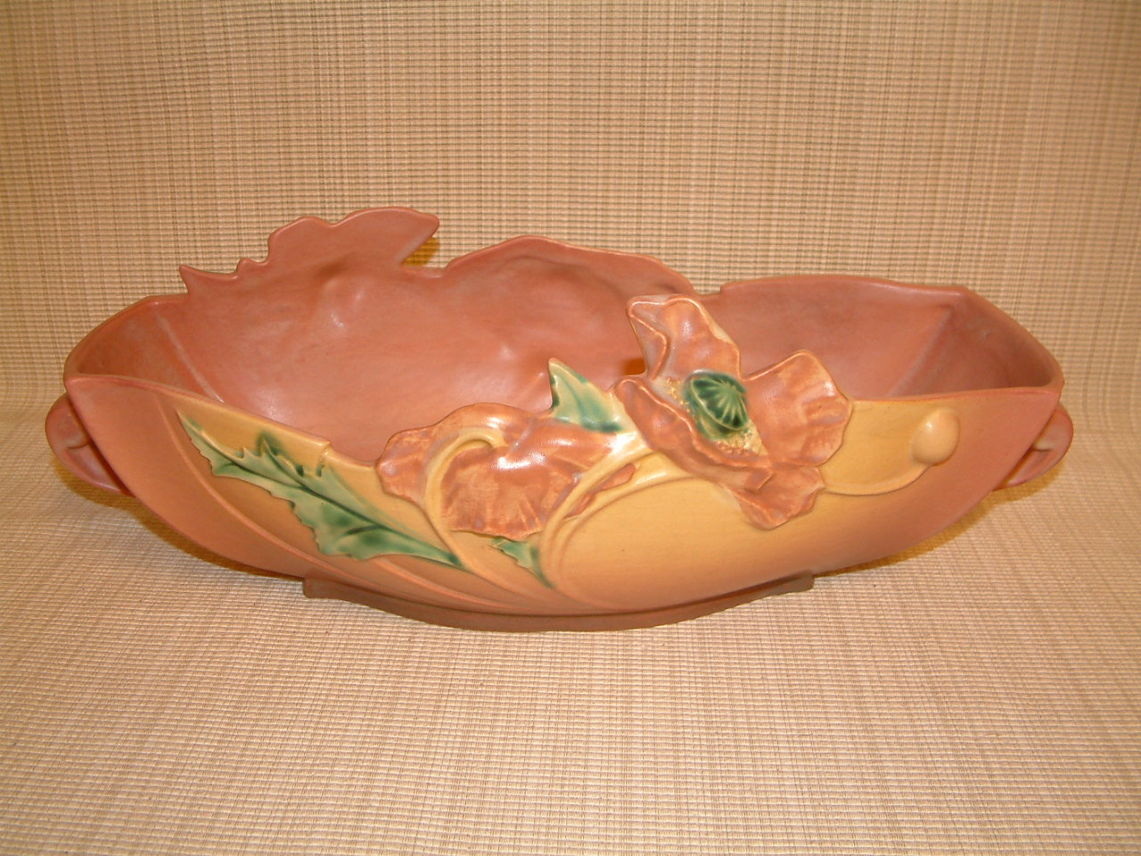Roseville Poppy Pink Large Centerpiece Bowl #340-14