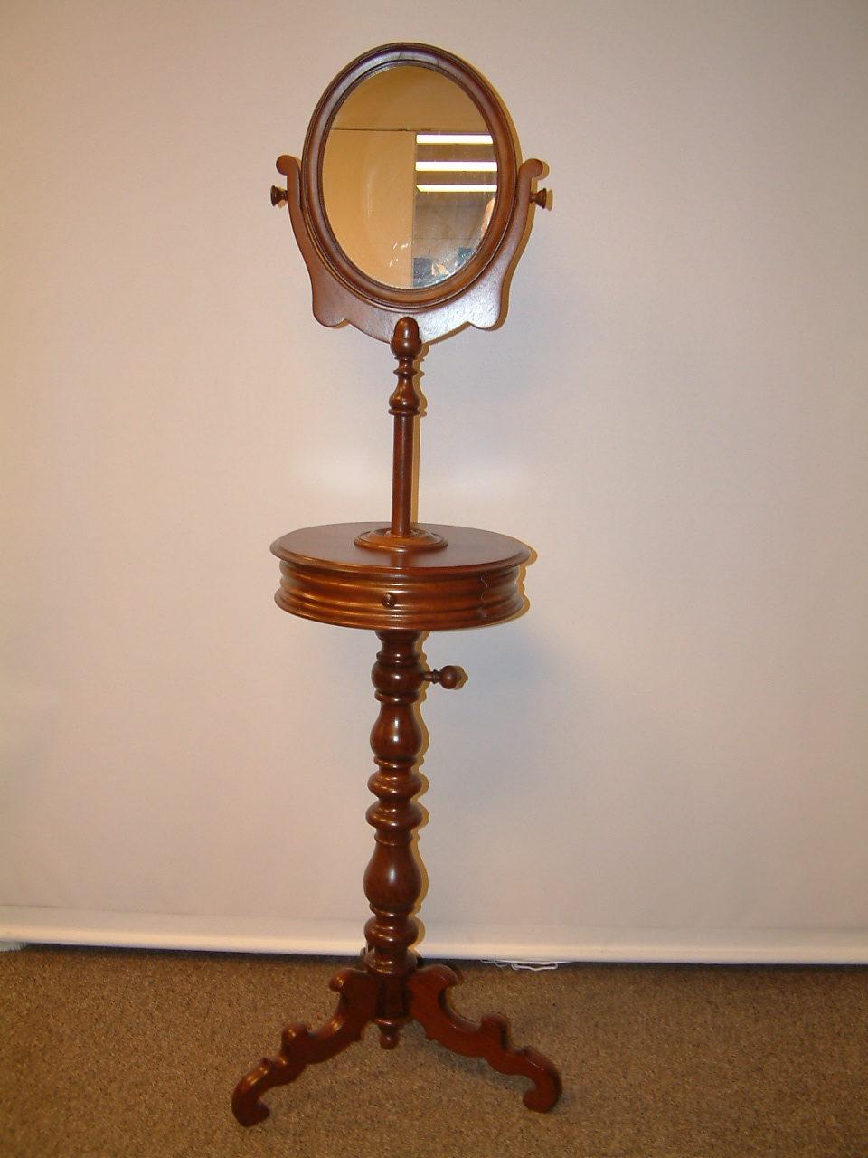 Walnut Victorian Tall Shaving Stand