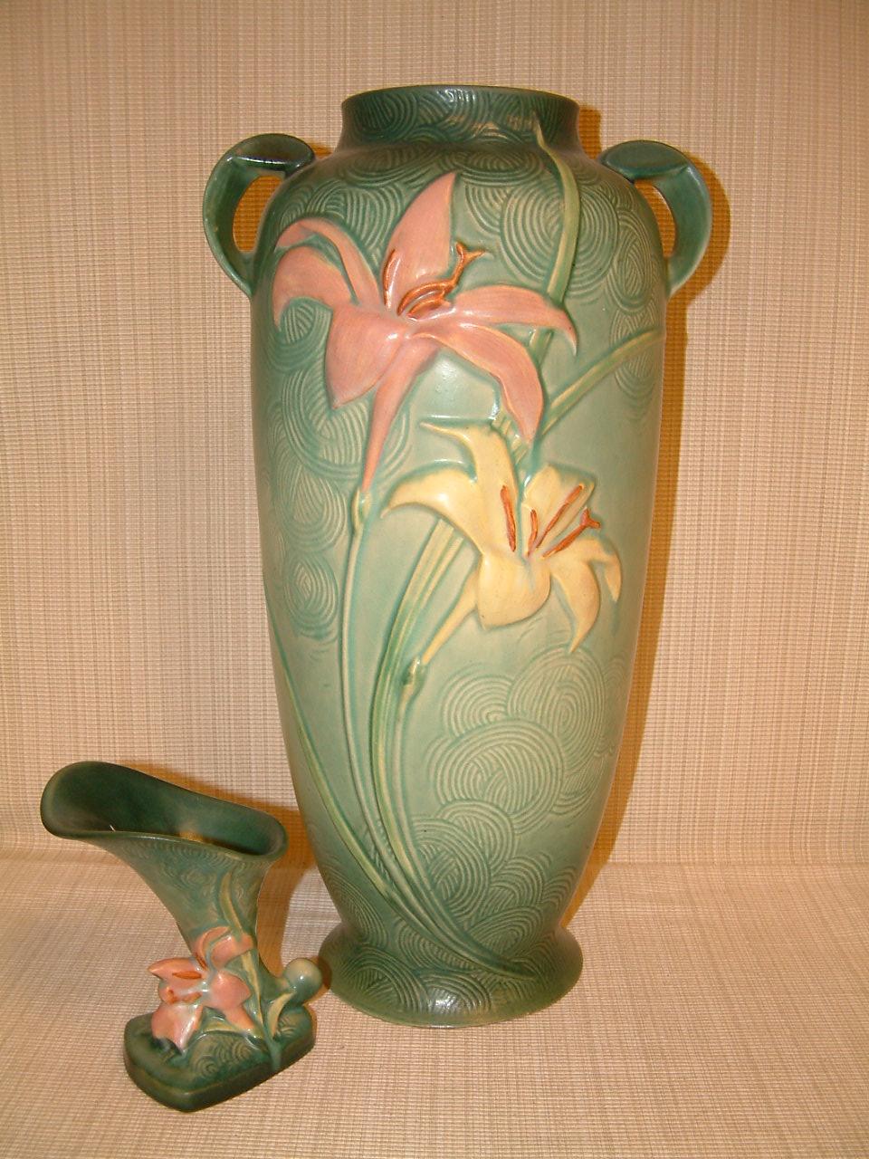 Roseville Zephyr Lily Floor Vase