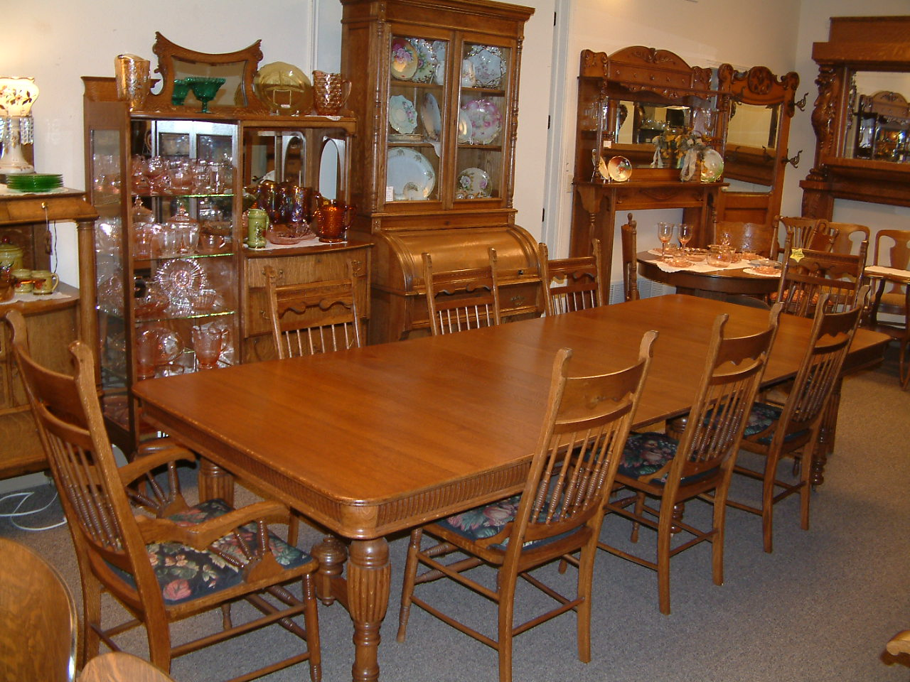 Quartersawn Oak Square Farm Table